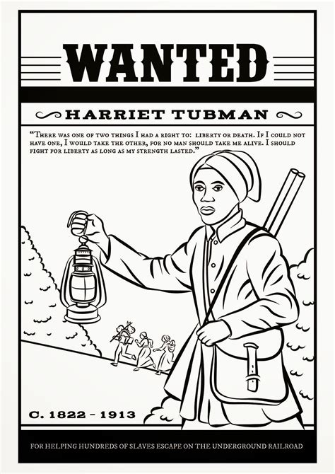 free coloring pages of harriet tubman
