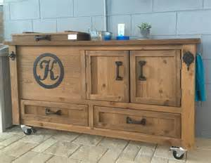 Locking Bar Cabinet Buffet Table Rustic Cooler Cabinet Outdoor Bar Bar Cabinet Sideboard