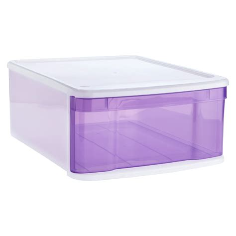 Large Stackable Drawers stackable drawers large tint stacking drawer the container store
