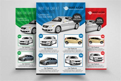 Free Rent Car Flyer Template Download 187 Designtube Creative Design Content Sublet Advertisement Template
