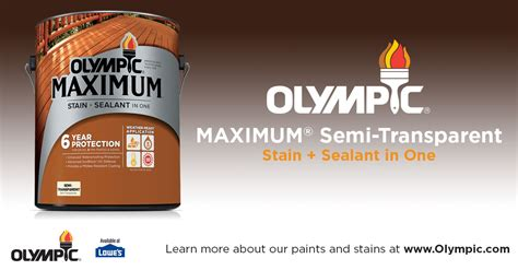 olympic maximum stain sealant   semi transparent