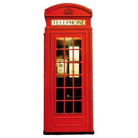 Telephone Box telephone box wall sticker homeware zavvi
