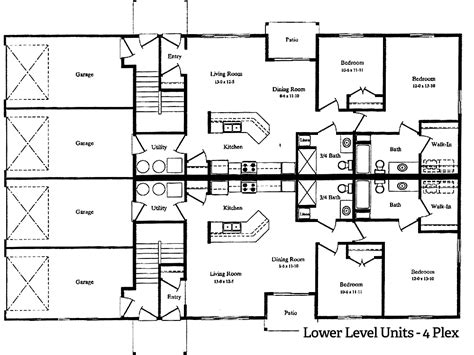 4 Plex Apartment Floor Plans | willow river apts 4 plex hafner properties
