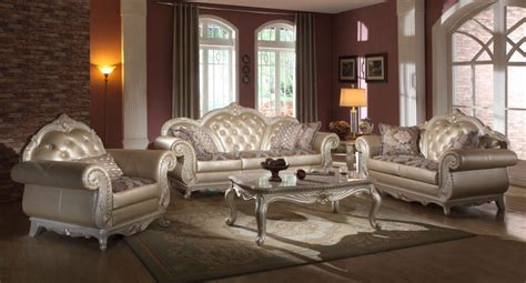 tufted living room set metallic pearl button tufted leather formal living