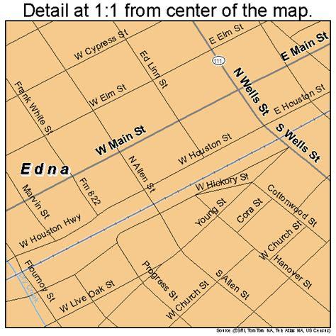 map of edna texas edna texas map 4822720