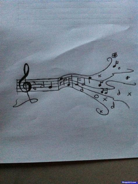 Sketches A Song by Draw Notes Step By Step Notes Musical Instruments