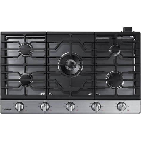 best buy samsung 36 quot gas cooktop stainless steel na36k6550ts