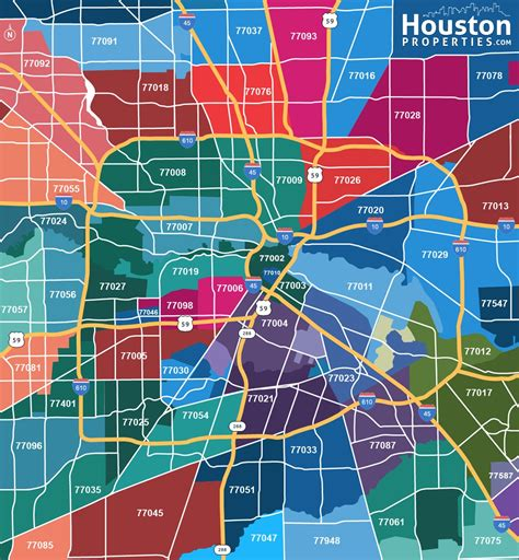 texas zip code map houston houston texas zip code map houstonproperties