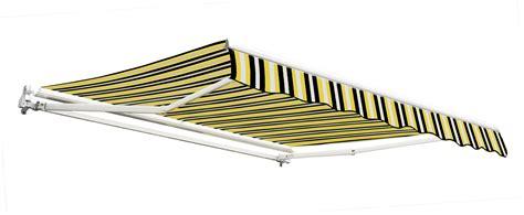 markisen 5m 2 5m budget manual awning yellow and grey