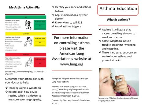 asthma brochure template asthma flyer