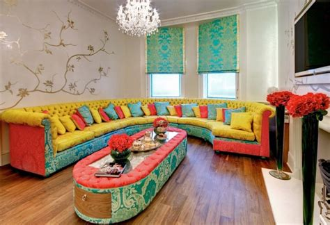 Colorful Living Room Furniture Sets Cozy Living Room Designs With Colorful Sofas