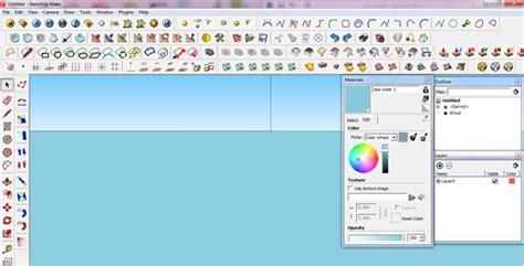 tutorial menggunakan google sketchup cara membuat efek air laut dengan menggunakan v ray