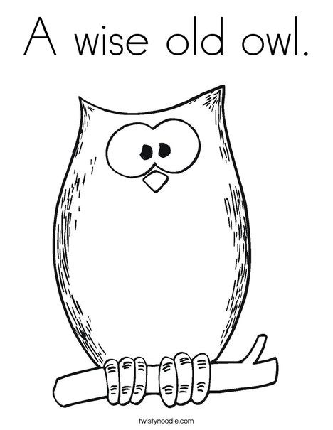 wise owl coloring page a wise old owl coloring page twisty noodle