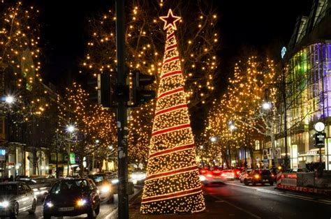 berlin christmas lights and tree kurfurstendamm by