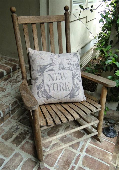 vintage home decor nyc big new york pillow vintage style antique letters for city