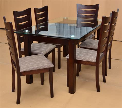 Glass Top Dining Tables And Chairs Dining Room Awesome Rectangular Glass Dining Table Combine With Brown Rectangular Wooden