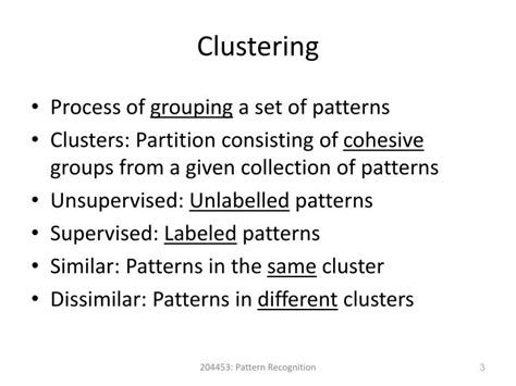pattern recognition applications ppt ppt pattern recognition chapter 8 clustering large data