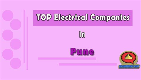 10 top electrical companies in pune maharashtra