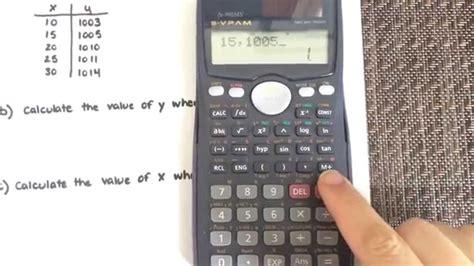 calculator regression online linear regression using a calculator casio fx 991ms
