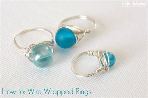 how to make wire jewelry rings wire rings tutorial how to make wire wrapped bead rings