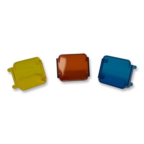 colored fog lights colored cube fog lens cover yellow