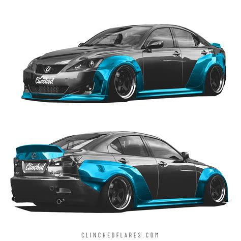 widebody lexus ls lexus is250 is350 widebody kit by clinched flares