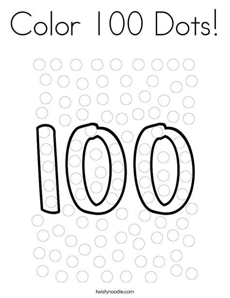 color 100 dots coloring page twisty noodle