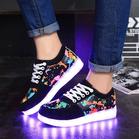 Big Sale Sepatu Pria Sneakers Casual Nike Free Htm Import led shoes for adults colorful unisex casual shoes light up luminous shoes simulation sole