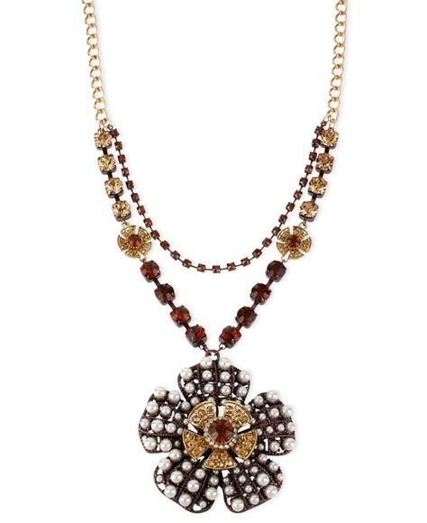 Fashion Earrings 4ba85 96 Berkualitas betsey johnson necklace gold tone large flower pendant necklace fashion jewelry jewelry