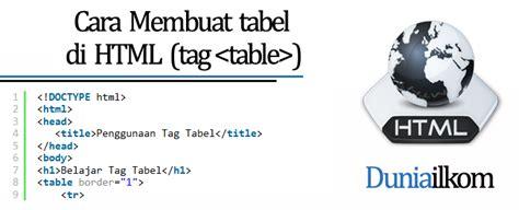 cara membuat tabel tag html belajar html dasar cara membuat tabel di html tag table