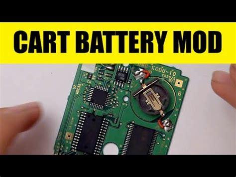 game boy color battery mod game boy color cartridge battery mod game save batt