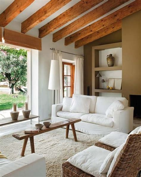 exposed wood beams 36 cozy living room designs with exposed wooden beams