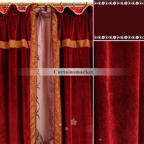 velour curtains elegant and beautiful for dark red velour curtains for