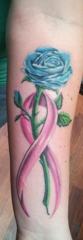 rose tattoo with breast cancer ribbon 25 best ideas about purple ribbon tattoos on