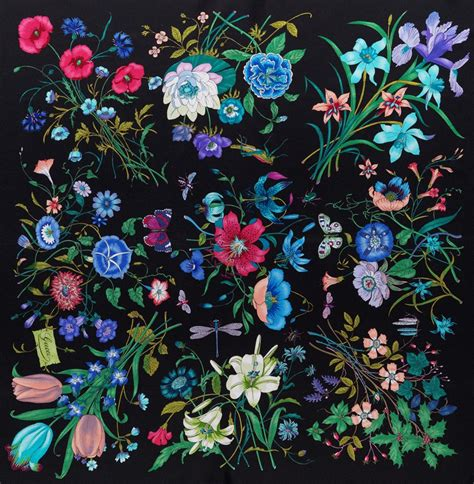 Flower Pattern Gucci | gucci flora 1966 a r t pinterest flora gucci and