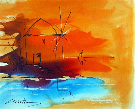 watercolor wind mill wind mills and watercolors