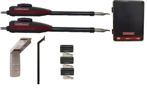 swing gate opener price liftmaster la400 dual swing gate opener kit complete package
