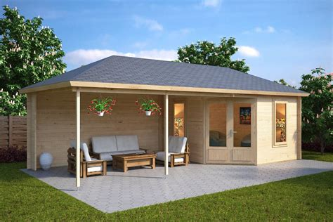 veranda holz garden room with veranda 10m 178 44mm 3 5 x 8 m