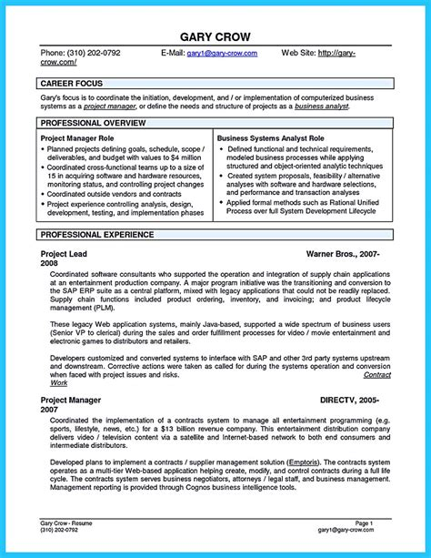 best secrets about creating effective business systems analyst resume