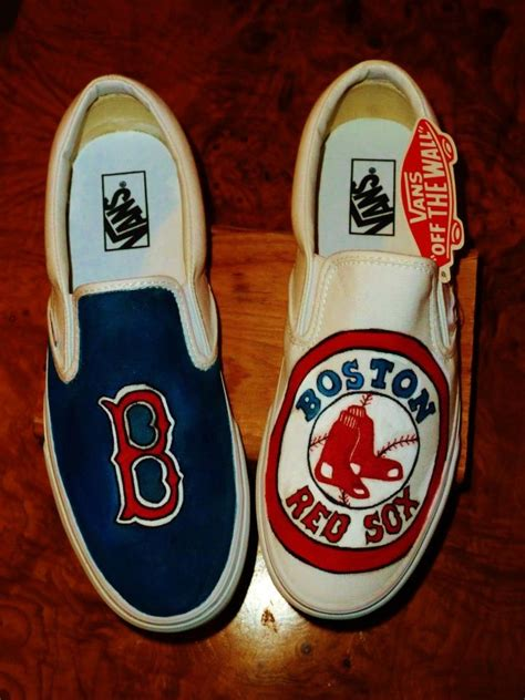 boston sox sneakers boston sox shoes painted shoes team shoes canvas