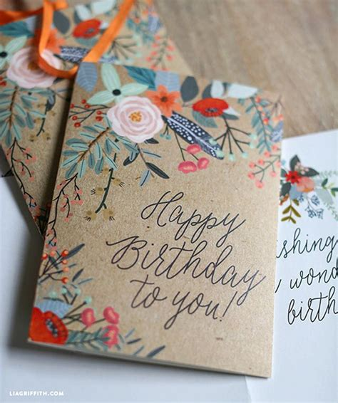 printable birthday cards diy 25 of the best diy birthday cards