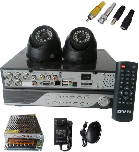 navkar systems 2 dome cctv with dvr 4 channel home