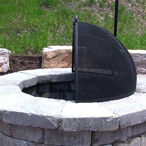 Firepit Screen Pit Spark Screen Easy Access Heavy Duty Steel Mesh Sizes