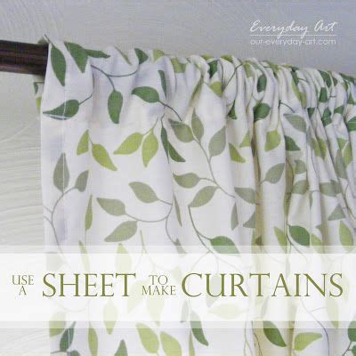 diy curtains from sheets sheet curtains diy for the home pinterest