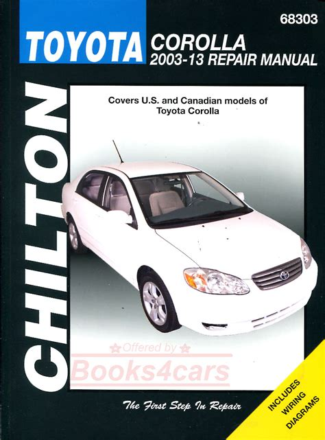 haynes toyota corolla 2003 2011 auto repair manual toyota corolla shop manual service repair chilton workshop haynes how to guide