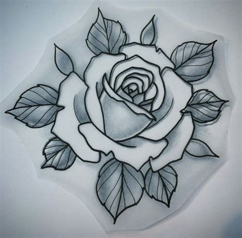 roses tattoo flash traditional drawing at getdrawings free for