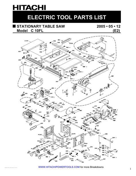 hitachi crj table  wiring diagram