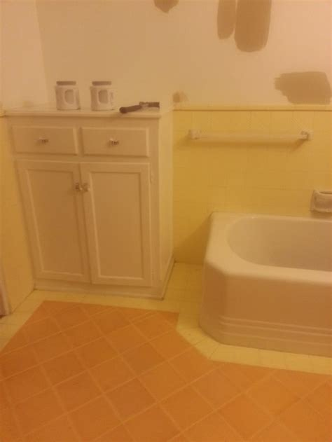 yellow and orange bathroom bathroom paint advice to go with vintage orange and yellow