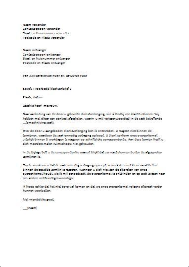 standaard layout zakelijke brief voorbeeld klachtenbrief