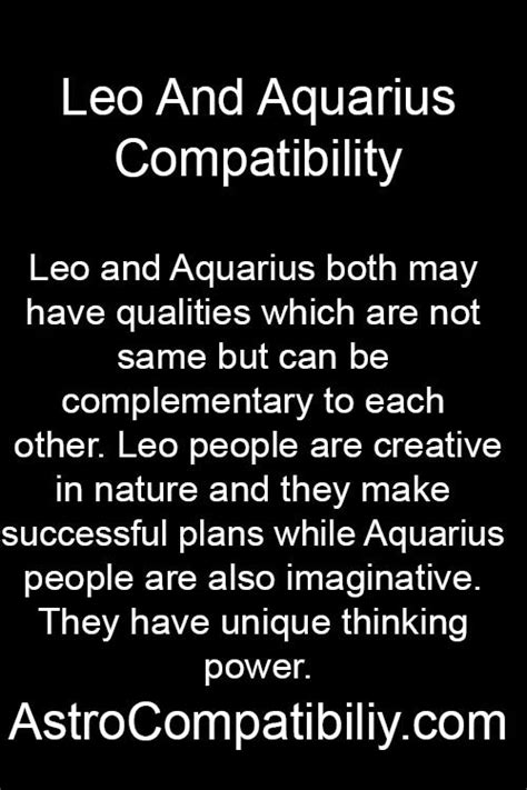leo horoscope aquarius woman and leo man